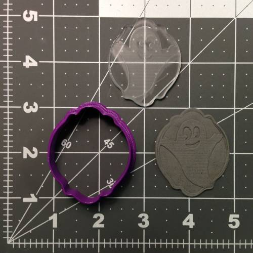 Ghost 100 Cookie Cutter and Stamp (1)