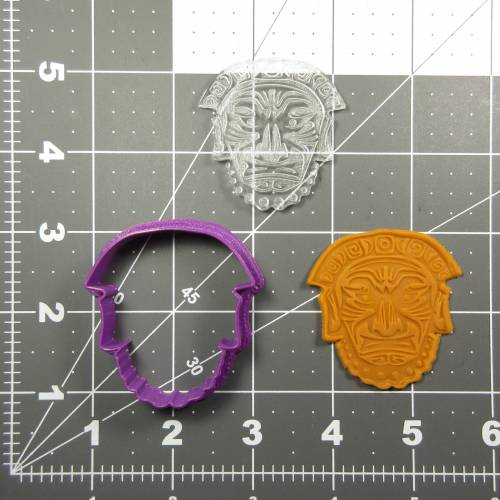 Culture Mask 100 Cookie Cutter and Stamp (embossed 1)