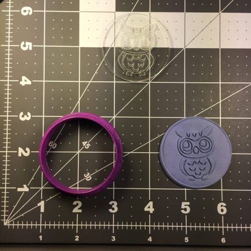 Owl 100 Cookie Cutter and Stamp (embossed 1)