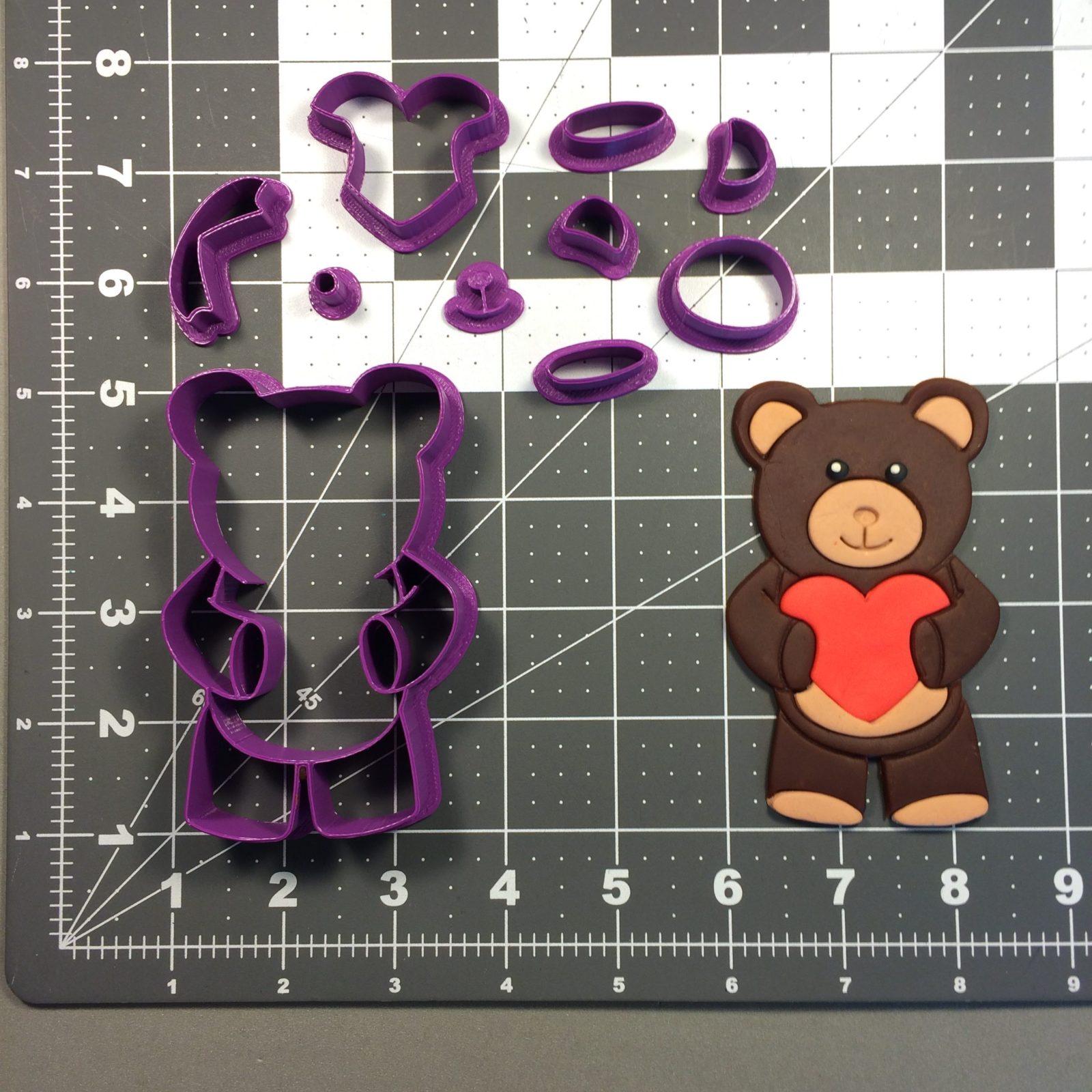 Teddy Bear 100 Cookie Cutter Set